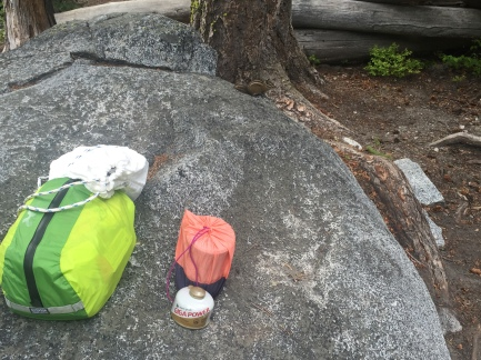 food bag, bear bag, and stove bag