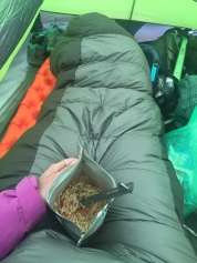 eating yummy pad thai in my tent
